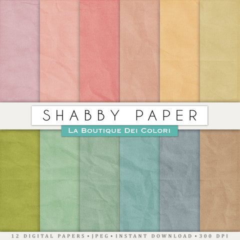 Shabby Digital Paper - La Boutique Dei Colori