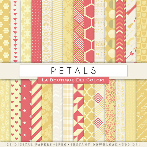 Red and Yellow Digital Paper - La Boutique Dei Colori