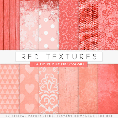 Red Texture Digital Paper - La Boutique Dei Colori