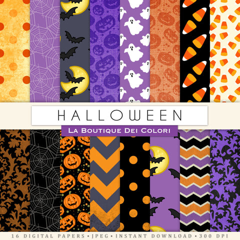 Spooky Halloween Digital Paper - La Boutique Dei Colori