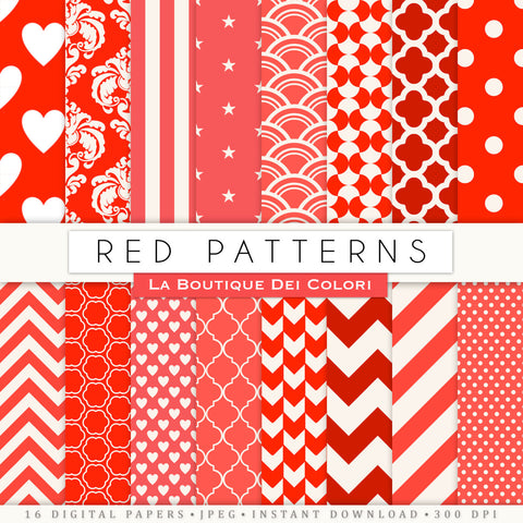 Red Digital Paper - La Boutique Dei Colori