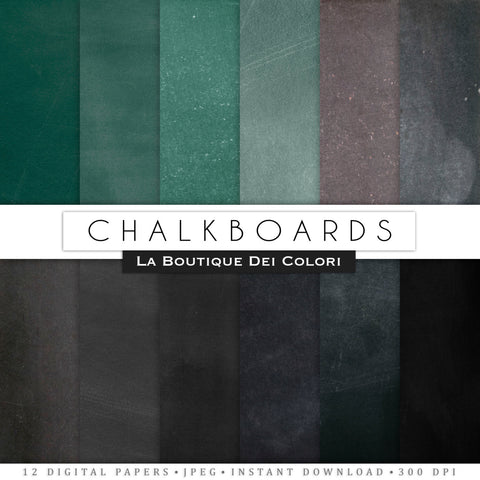 Chalkboard Texture Digital Paper - La Boutique Dei Colori - 1