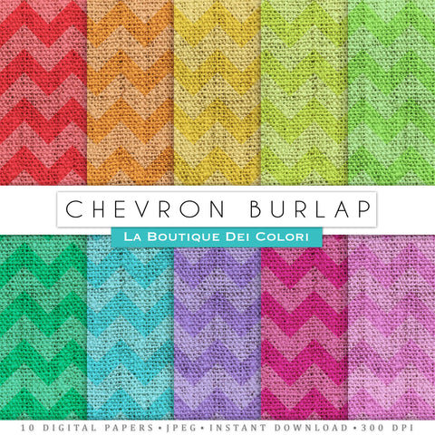 Chevron Burlap Digital Paper - La Boutique Dei Colori