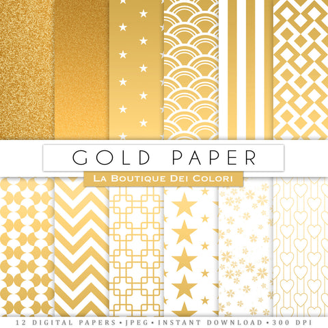 Gold Digital Paper - La Boutique Dei Colori