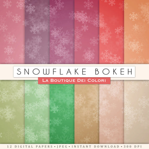 Snowflake Digital Paper - La Boutique Dei Colori