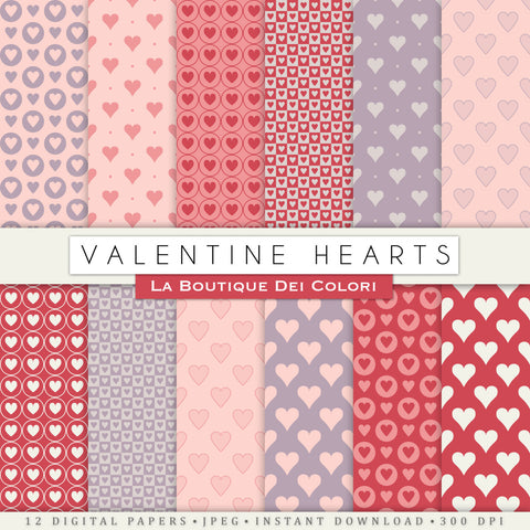 Valentine's Day Digital Paper - La Boutique Dei Colori