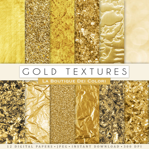 Gold Texture Digital Paper - La Boutique Dei Colori