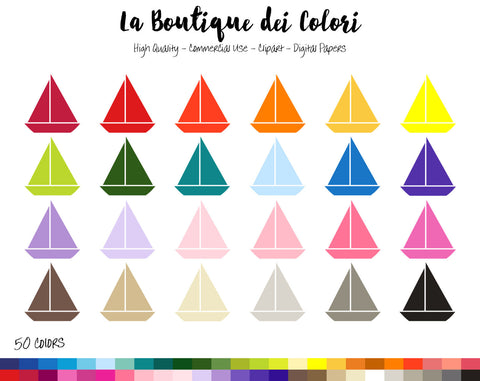 Sailboat Planner Clipart - La Boutique Dei Colori