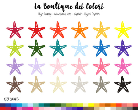 Starfish Planner Sticker - La Boutique Dei Colori