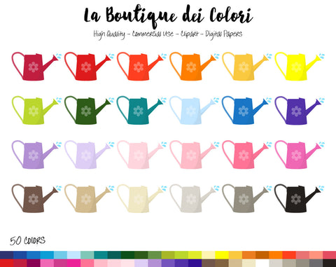 Watering Can Planner Clipart - La Boutique Dei Colori
