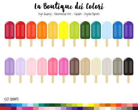 Popsicle Planner Clipart - La Boutique Dei Colori