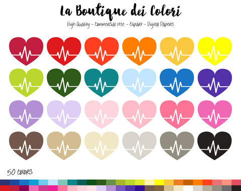 Heart Beat Planner Clipart - La Boutique Dei Colori