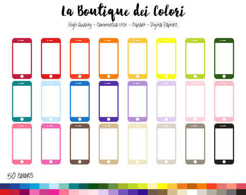 Mobile Phone Planner Clipart - La Boutique Dei Colori