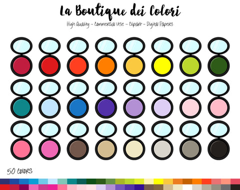 Makeup Planner Clipart - La Boutique Dei Colori