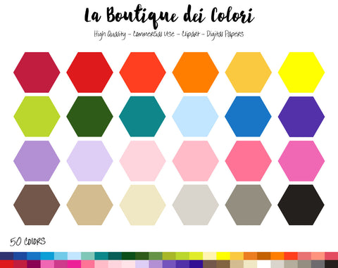 Hexagon Frame Planner Clipart - La Boutique Dei Colori