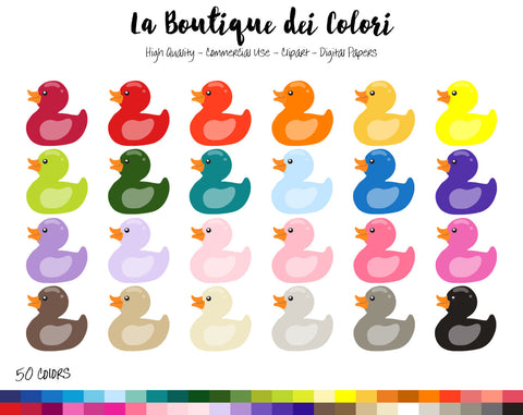 Rubber Ducky Planner Clipart - La Boutique Dei Colori