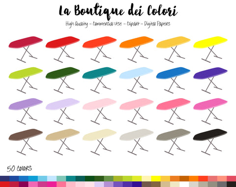 Ironing Board Planner Clipart - La Boutique Dei Colori