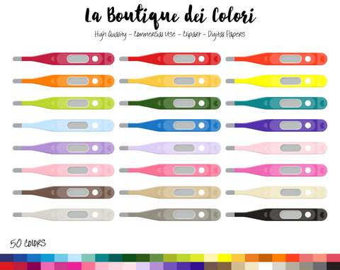Medical Thermometer Planner Clipart - La Boutique Dei Colori