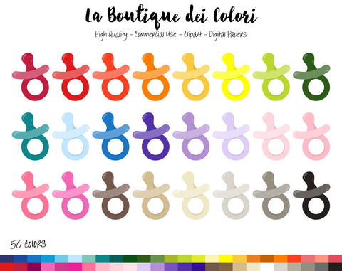 Pacifier Planner Clipart - La Boutique Dei Colori