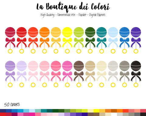 Toy Rattle Planner Clipart - La Boutique Dei Colori
