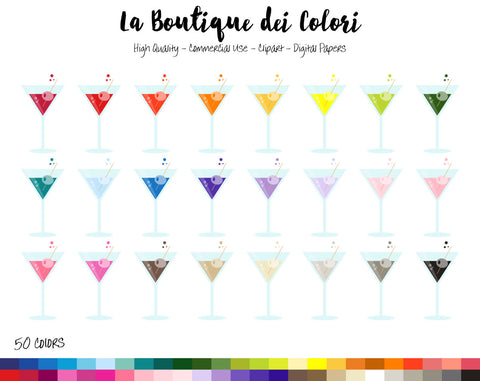 Martini Planner Clipart - La Boutique Dei Colori