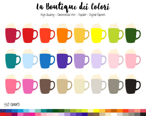 Hot Chocolate Planner Clipart - La Boutique Dei Colori