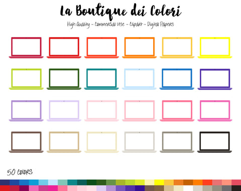 Laptop Planner Clipart - La Boutique Dei Colori