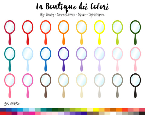 Hand Mirror Planner Clipart - La Boutique Dei Colori
