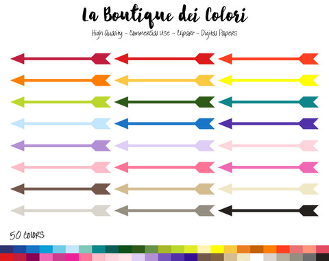 Tribal Arrows Planner Clipart - La Boutique Dei Colori