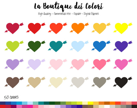 Heart and Arrow Planner Clipart - La Boutique Dei Colori