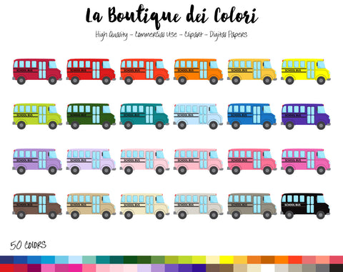 School Bus Planner Sticker - La Boutique Dei Colori