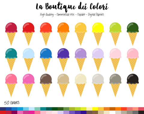 Summer Ice cream Planner Clipart - La Boutique Dei Colori