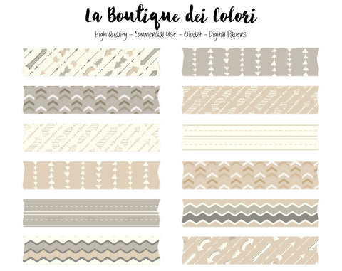 Neutral Arrows Washi Tape Clipart - La Boutique Dei Colori