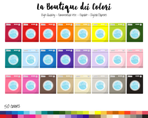 Washing Machine Planner Clipart - La Boutique Dei Colori