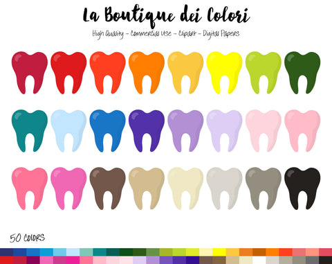 Tooth Planner Clipart - La Boutique Dei Colori