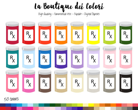 Prescription Planner Clipart - La Boutique Dei Colori