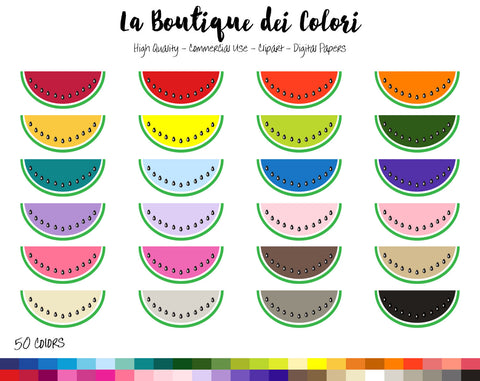 Watermelon Planner Clipart - La Boutique Dei Colori