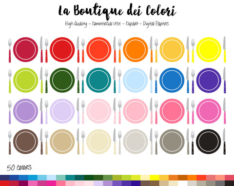 Tableware Planner Clipart - La Boutique Dei Colori