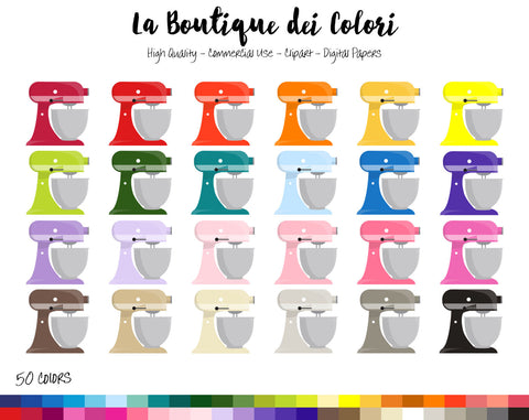Kitchen Food Mixer Planner Clipart - La Boutique Dei Colori
