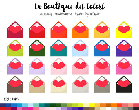 Love Letter Planner Clipart - La Boutique Dei Colori