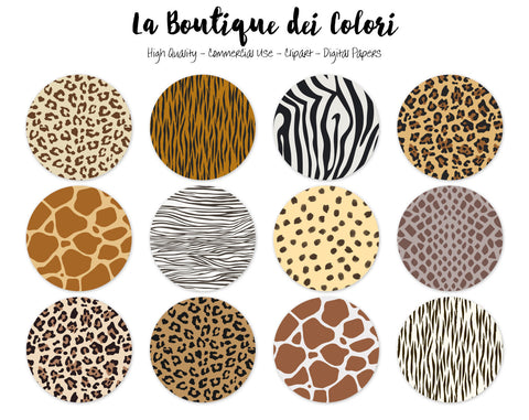 Animal Print Circles Clipart - La Boutique Dei Colori