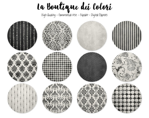Black and White Circles Clipart - La Boutique Dei Colori