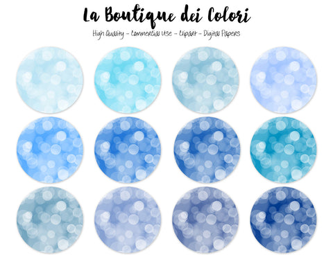 Blue Bokeh Circles Clipart - La Boutique Dei Colori