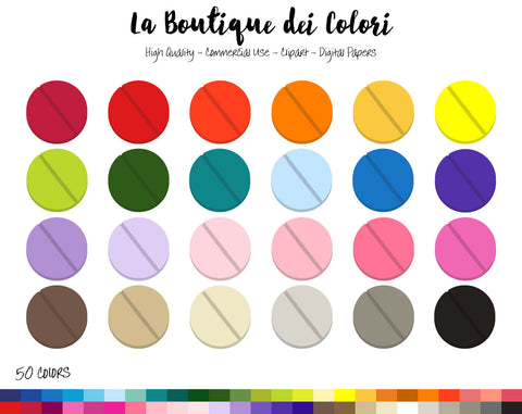 Pills Planner Clipart - La Boutique Dei Colori