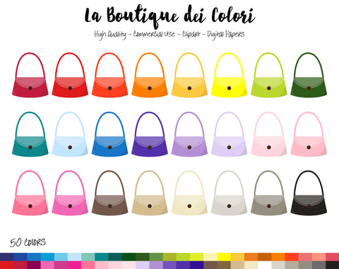 Lady's Handbag Planner Clipart - La Boutique Dei Colori