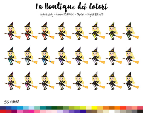 Flying Witch Planner Clipart - La Boutique Dei Colori