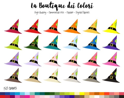 Witch Hat Planner Clipart - La Boutique Dei Colori