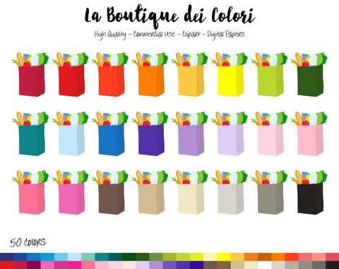Grocery Bag Planner Clipart - La Boutique Dei Colori
