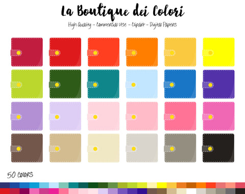 Wallet Planner Clipart - La Boutique Dei Colori