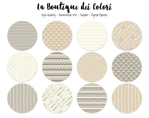Neutral Arrows Circles Clipart - La Boutique Dei Colori